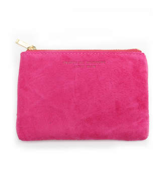 Arenot (アーノット) - アーノット スエード フラットポーチ S ピンク(SUEDE FLAT POUCH S pink)