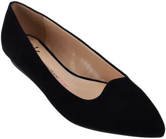 Isaac Mizrahi Live! Suede Pointed Toe Ballet Flats