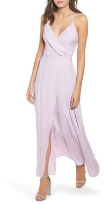 Leith Faux Wrap Maxi Dress