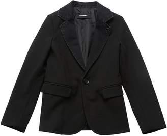 Diesel Cool Twill Jacket W/ Denim Lapels