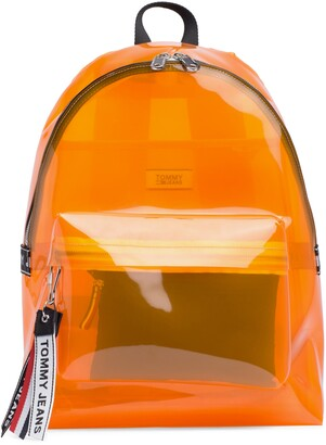 Tommy Jeans Woven Logo Clear Backpack