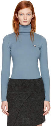 See by Chloe Blue Logo Turtleneck