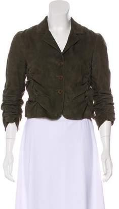 Donna Karan Suede Ruched Jacket