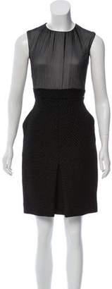 Chanel Silk-Paneled Fantasy Tweed Dress