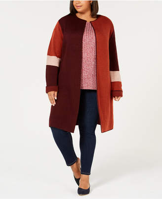 Plus Size Sweater Duster Shopstyle