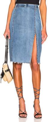 RE/DONE Levis Long Skirt in Indigo   FWRD