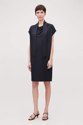 Cos NECK-TIE JERSEY DRESS