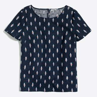 J.Crew Factory Printed linen-cotton T-shirt