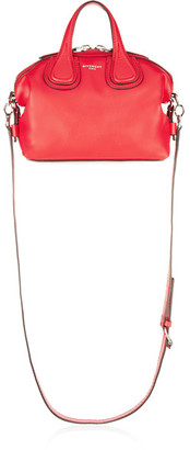 Givenchy - Micro Nightingale Shoulder Bag In Red Textured-leather - one size $1,790 thestylecure.com