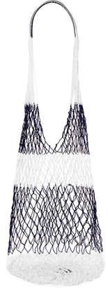 Sophie Anderson - Striped Macramé Shoulder Bag - Navy