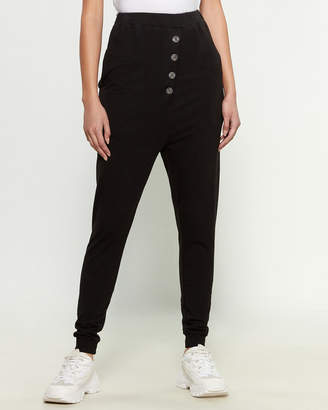 Research Code By Never Enough Black Sheep Drop Crotch Pants