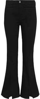 MiH Jeans Marrakesh Sneaker Split Mid-Rise Kick-Flare Jeans
