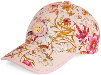 Gucci Baseball hat with Flora print