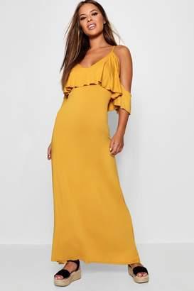 boohoo Petite Kelly Overlay Maxi Dress