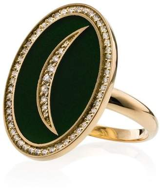 Andrea Fohrman crescent moon 18K gold diamond ring