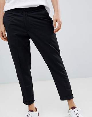Pull&Bear Tailored Joggers In Black
