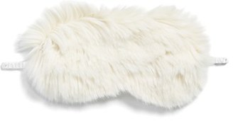 Nordstrom Faux Fur Eye Mask - Ivory $29 thestylecure.com