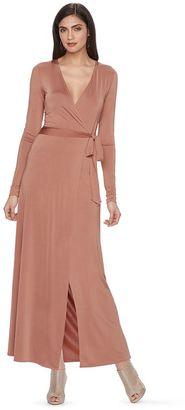 Women's Jennifer Lopez Luxe Essentials Wrap Maxi Dress $64 thestylecure.com