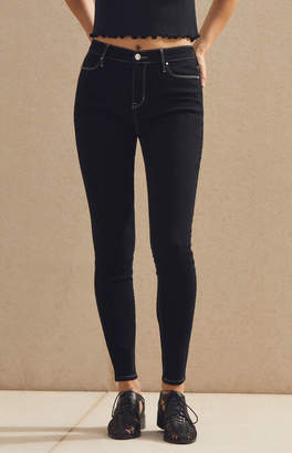 Pacsun Black Contrast Stitched High Rise Jeggings