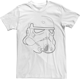 Fifth Sun Men's Star Wars Stormtrooper Outline Tee