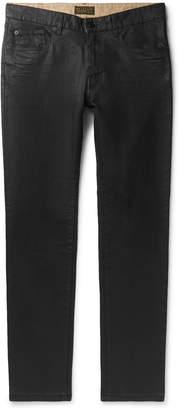 Belstaff Fenton Slim-Fit Waxed Stretch-Denim Jeans - Men - Black