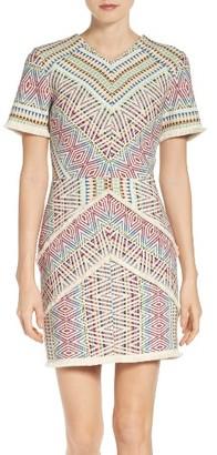 Women's Adelyn Rae Print Sheath Dress $118 thestylecure.com