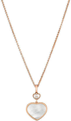 Chopard Happy Hearts 18k Mother-of-Pearl & Diamond Long Pendant Necklace