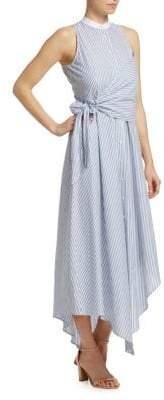 Jonathan Simkhai Striped Asymmetric Dress