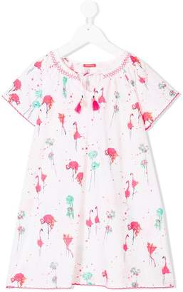 Sunuva flamingo kaftan dress