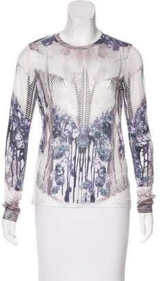 Prabal Gurung Digital Print Long Sleeve Top