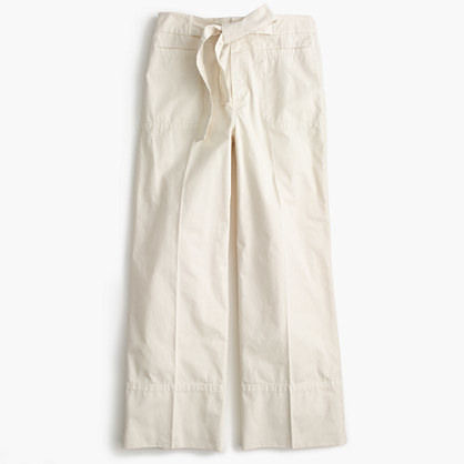 J.Crew Cropped pant in Italian chino with tie