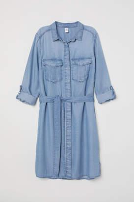 H&M Denim Shirt Dress - Blue