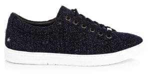 Jimmy Choo Cash Metallic Tweed Sneakers