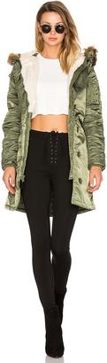 ALPHA INDUSTRIES Elyse Faux Fur Parka $225 thestylecure.com