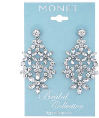 MONET JEWELRY Monet Jewelry Bridal Flower Chandelier Earrings