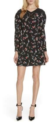Tanya Taylor Nyla Floral Clusters Silk Dress