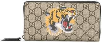 Gucci GG Supreme tiger print wallet