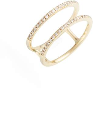 Ef Collection Double Row Diamond Ring