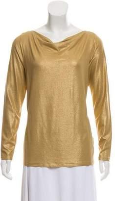 Ralph Lauren Black Label Shimmered Long Sleeve Top