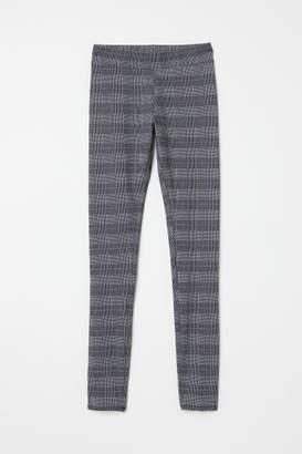 H&M Patterned Leggings - White