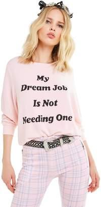 Wildfox Couture Dream Job Baggy Beach Jumper   Romantic
