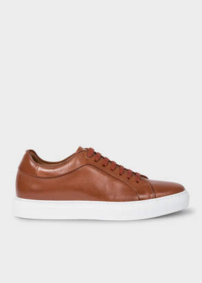 Paul Smith Men's Tan Leather 'Basso' Trainers