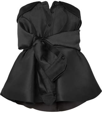Alexis Mabille Bow-detailed Satin-twill Top - Black