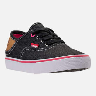 Levi's Footwear Girls' Preschool Monterey Denim Buck Casual Shoes