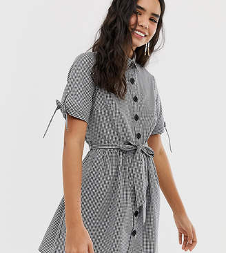 Miss Selfridge shirt dress in gingham