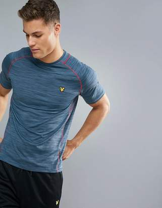 Lyle & Scott Fitness Jones Training T-Shirt in Petrol with Contrast Piping