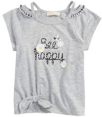 Truly Me Be Happy Embellished Tee
