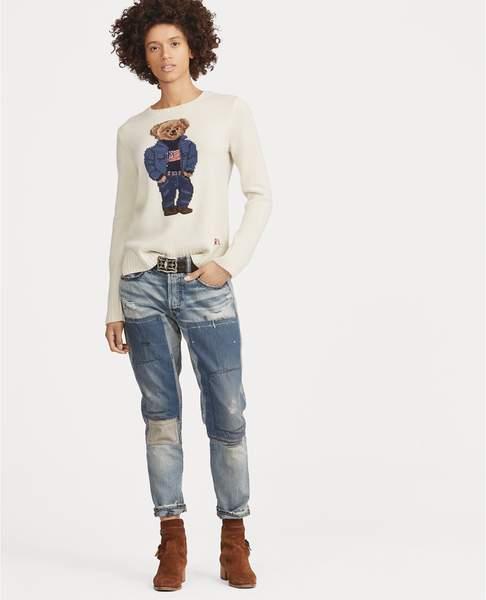 Polo Ralph Lauren Polo Ralph Lauren | Patchwork Avery Boyfriend Jean | M | Medium patched indigo