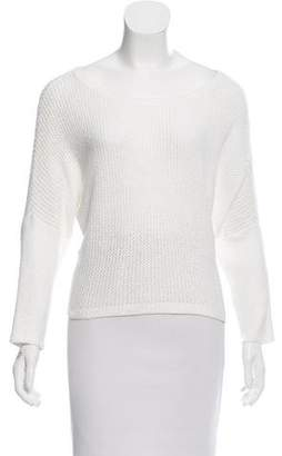 Alice + Olivia Open Knit High-Low Sweater
