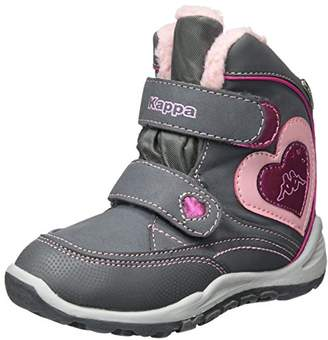 90122ef6372 Kappa Girls' Valentine TEX Kids Combat Boots, 1621 Grey/Rosé 2.5UK Child